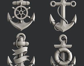 3d STL models for CNC marine anchor