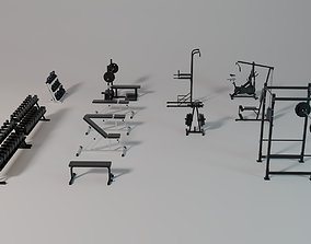 Gym Equipment Collection - Full Set 3D