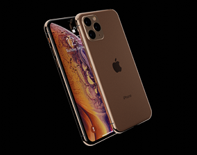 3D iPhone 11 Rose Gold