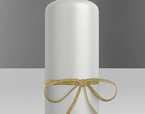 3D model Candle Stick with a Bow