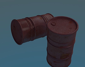 rusty oil barrel 3D asset