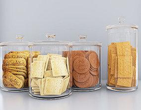 Dry biscuit jars pastry 3D
