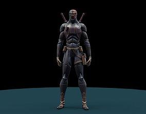 ninja 3D model low-poly