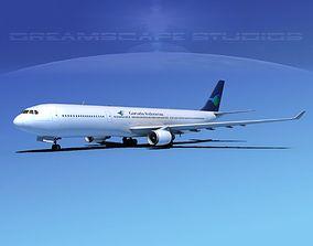 Airbus A330-300 Garuda 3D model