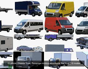 15 vehicle Chassis Truck Passenger minibus Motorhome 3D 1