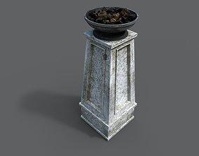 3D asset Fire column
