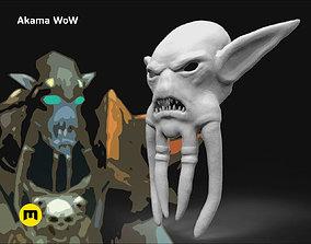 character 3D printable model Akama mask WoW