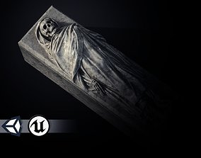 Tomb - Skeleton Sarcophagus - PBR and Game Ready 3D asset