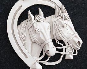 3D printable model Horse Head horseshoe