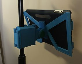 3D printable model Snap-Clip Folding iPad Microphone Stand