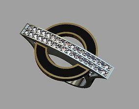 Enemal-diamond circle ring 3D printable model