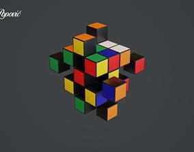 Rubiks Cube 3D art