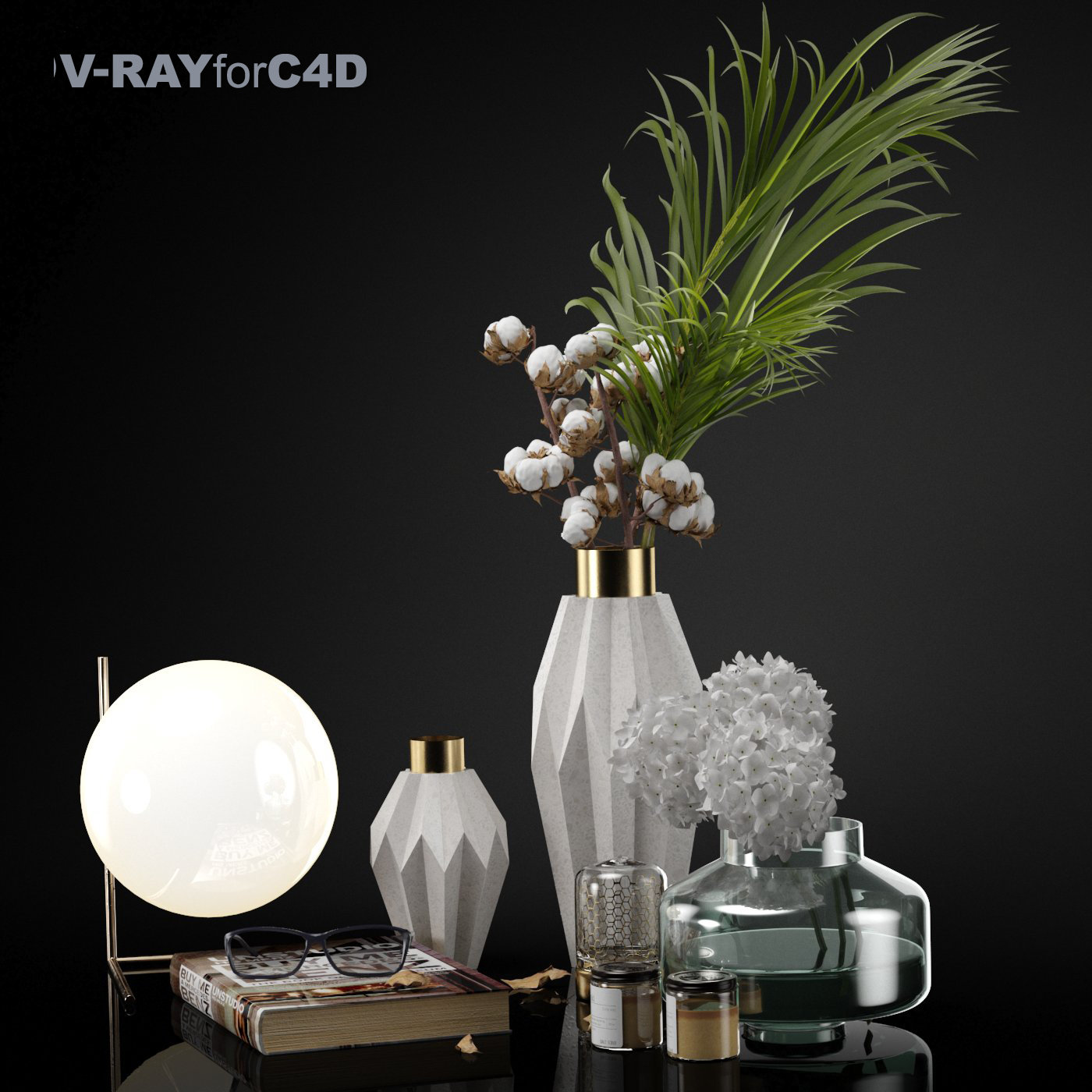 Decorative set 002 C4D