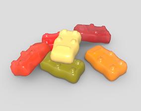 3D asset Jelly Bear
