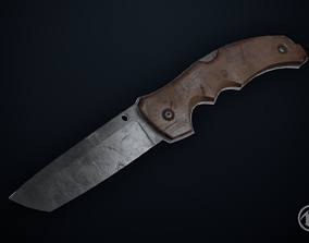 3D model Old Knife - Game Ready