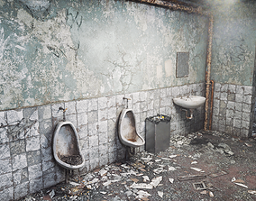 3D asset low-poly Silent Hill Bathroom 20 Years Later