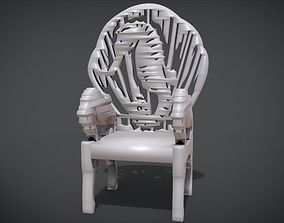 Unique Chair with a Seahorse Ornament model
