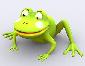 animated low-poly 3DRT - toonpets animals Frog
