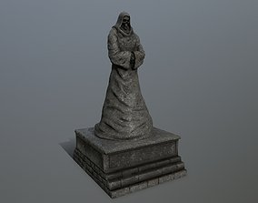 3D model game-ready statue 2
