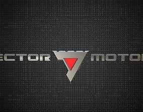 3D vector motors logo