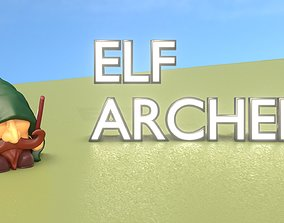 Gnome Elf Archer - Funny Sneaky Bowman 3D model