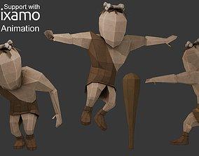 3D asset Caveman Character