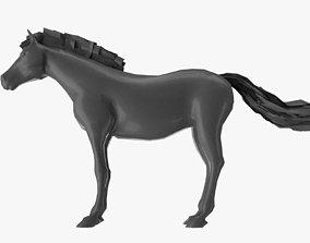 3D model walk Horse