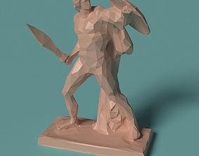 Polygonal Statue Achilles printable