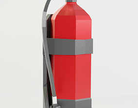 extinguisher Fire Extinguisher 3D model game-ready PBR