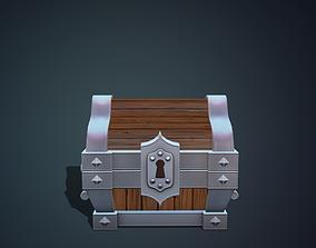 Stylized chest metal 3D model