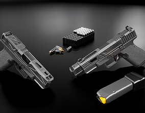 3D model game-ready Glock 19 Tactical Handgun