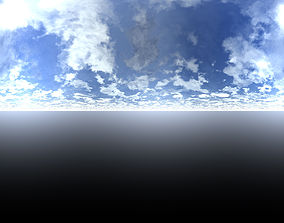 4K HDRI Sky of Southern CA at Noon 3D model