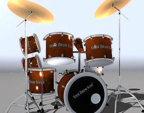 Drum for Games 3D asset