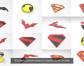 3D printable superhero emblem for cosplay