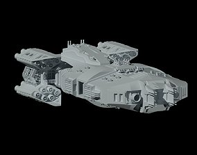 The spaceship Dreadnought 3D model