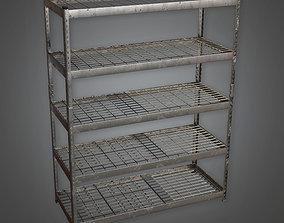 3D asset TLS - Large Metal Shelf - PBR Game Ready
