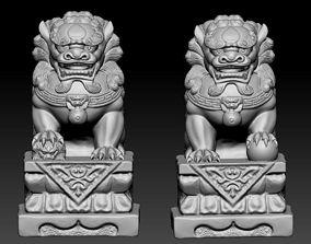 3D printable model guardian Guardian lions