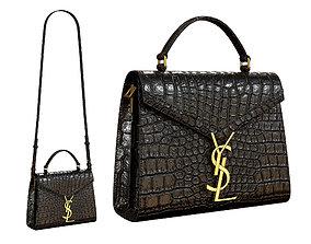 3D asset YSL Saint Laurent Cassandra Mini Top Bag Black
