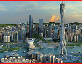 Modern City Animated 085 3D