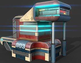 Cyberpunk SCI-FI Building - PBR - Game Ready 3D asset
