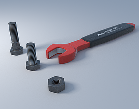 3D Wrench nut and bolts