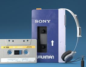 3D model Vintage Old Walkman