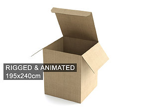 Cardboard Box 195x240cm - Rigged and Animated 3D