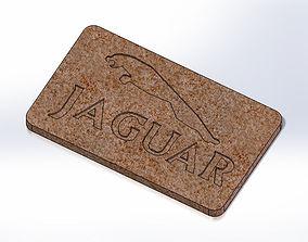 3D print model Jaguar Plate