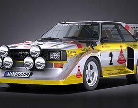 Audi Sport Quattro S1 E2 1985 VRAY 3D model