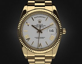 Rolex Day-Date watch royal 3D
