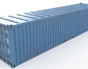 Container 40ft low poly PBR 3D model