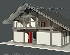3D model House Modern Fachwerk half-Timbered