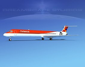 McDonnell Douglas MD83 Avianca 3D model