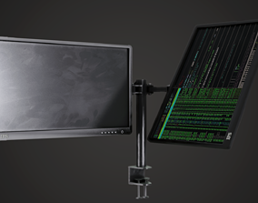 3D asset Monitor Arm Plus Monitor